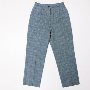 Pendleton Vintage Wool Glen Plaid Pleated Pants 12